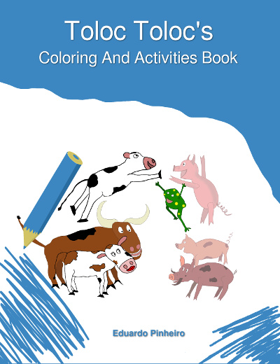 English book cover: Toloc Toloc's Coloring and Activities Book